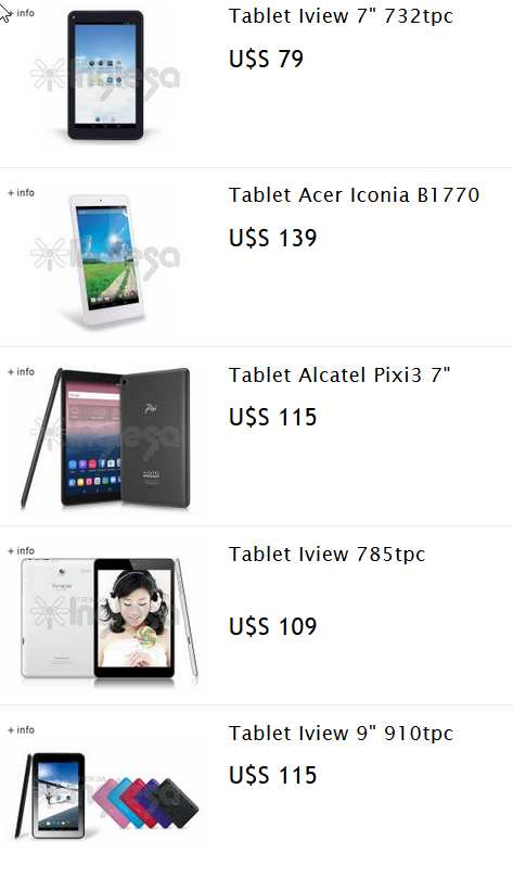 catalogo de tablets tienda inglesa