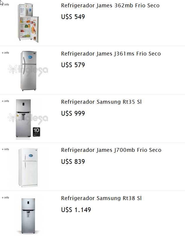 catalogo de refigeradores