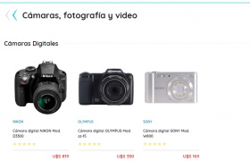Cámaras de fotos en GEANT