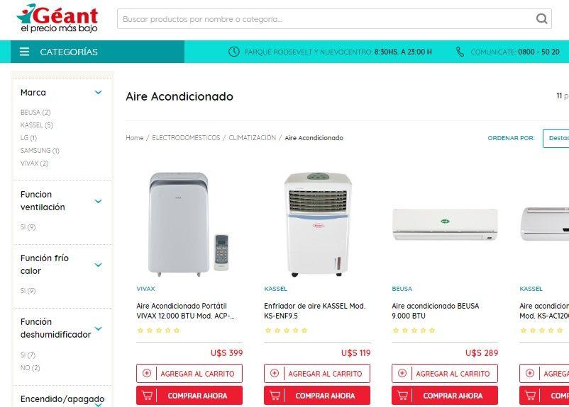Catálogo GEANT de Aires Acondicionados