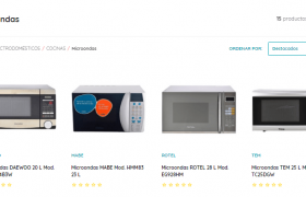 Catálogo GEANT de microondas