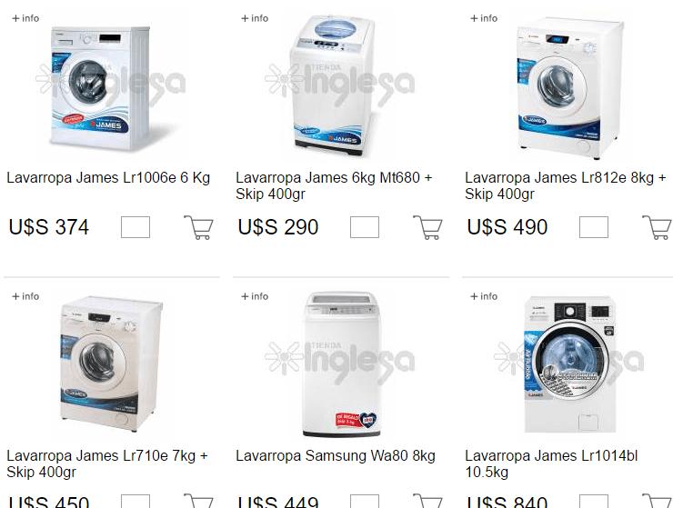 lavarropas tienda inglesa